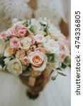 portrait of a wedding bride...   Shutterstock . vector #474336805