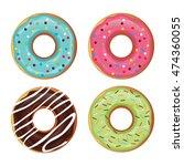 set of donut vector | Shutterstock .eps vector #474360055