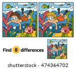 find differences  education... | Shutterstock .eps vector #474364702