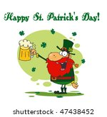 happy st patrick's day greeting ... | Shutterstock .eps vector #47438452