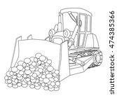 bulldozer   Shutterstock .eps vector #474385366