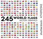 world flags vector graphics | Shutterstock .eps vector #474392542