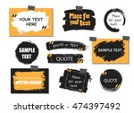 vector quote or text boxes... | Shutterstock .eps vector #474397492