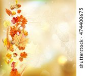background on a theme of autumn....   Shutterstock .eps vector #474400675