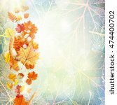 background on a theme of autumn.... | Shutterstock .eps vector #474400702
