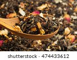 close up of dry tea in wooden... | Shutterstock . vector #474433612