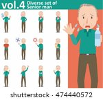 diverse set of senior man on... | Shutterstock .eps vector #474440572