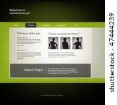 web site design template ... | Shutterstock .eps vector #47444239