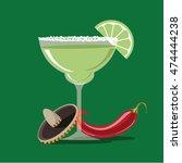 margarita flat design icon. eps ... | Shutterstock .eps vector #474444238