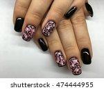 manicure   beauty treatment... | Shutterstock . vector #474444955