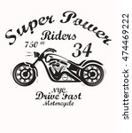 motorcycle t shirt graphic | Shutterstock .eps vector #474469222