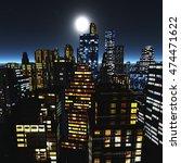 Night City. Moon Over...