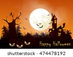 illustration of halloween night ... | Shutterstock .eps vector #474478192