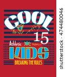 cool kids  t shirt graphics... | Shutterstock .eps vector #474480046