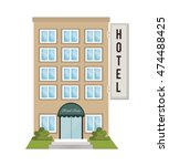 hotel building place isolated... | Shutterstock .eps vector #474488425