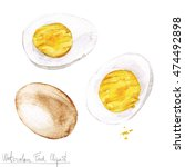 watercolor food clipart   egg | Shutterstock . vector #474492898