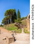 Small photo of Villa Adriana, Italy. Ruins of Canopus. UNESCO list.