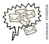 freehand drawn speech bubble... | Shutterstock . vector #474503536