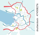 saint petersburg map in sketch... | Shutterstock .eps vector #474508276