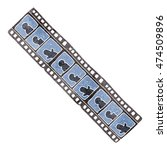 freehand retro cartoon film... | Shutterstock . vector #474509896