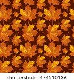 vector. autumn leaves  carpet.... | Shutterstock .eps vector #474510136