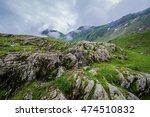 Rocks Near Balea Lake Area Nex...
