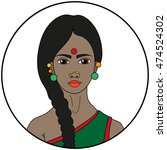 type of beauty   hindu | Shutterstock .eps vector #474524302