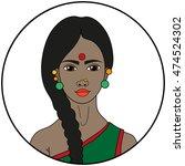 type of beauty   hindu   Shutterstock .eps vector #474524302