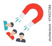 attracting customers concept... | Shutterstock .eps vector #474527386