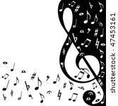 background music | Shutterstock .eps vector #47453161