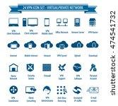 vpn   24 icon set   virtual... | Shutterstock .eps vector #474541732