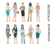 business women in smart suit... | Shutterstock .eps vector #474550258