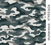 military camouflage seamless... | Shutterstock .eps vector #474551626
