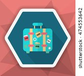 luggage icon  vector flat long... | Shutterstock .eps vector #474553642