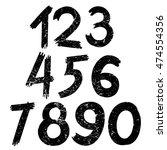 the vector of digital number in ... | Shutterstock .eps vector #474554356