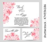 romantic invitation. wedding ... | Shutterstock .eps vector #474556186