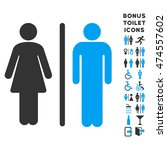wc persons icon and bonus male... | Shutterstock .eps vector #474557602
