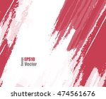 red grungy vector background.... | Shutterstock .eps vector #474561676