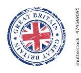 great britain grunge rubber... | Shutterstock .eps vector #474569095