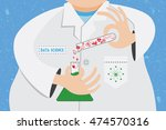 data science concept. scientist ... | Shutterstock .eps vector #474570316