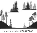 illustration with trees set... | Shutterstock .eps vector #474577765