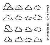 cloud icon in thin line style | Shutterstock .eps vector #474579985