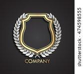 3d heraldic shield and laurel... | Shutterstock .eps vector #474598555