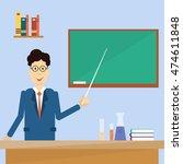 professor point pointer to... | Shutterstock .eps vector #474611848