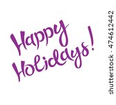 happy holidays vector... | Shutterstock .eps vector #474612442