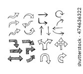 hand drawn arrows illustration... | Shutterstock .eps vector #474636322