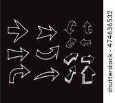 hand drawn arrows illustration... | Shutterstock .eps vector #474636532