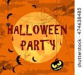 vector halloween characters and ... | Shutterstock .eps vector #474638485