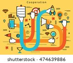 line flat business design and... | Shutterstock .eps vector #474639886