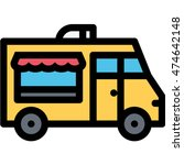 food truck outline icon | Shutterstock .eps vector #474642148